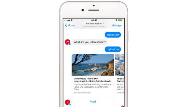 Auch Reise-Inspiration kann man sich vom Chatbot holen