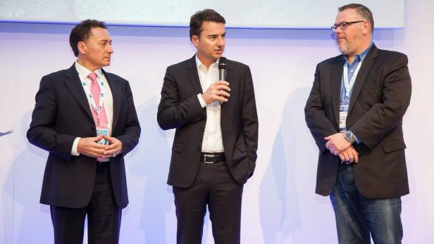 Christian Morales (Intel), Elias Drakopoulos (Deutsche Telekom), Mike Flannagan (Cisco)