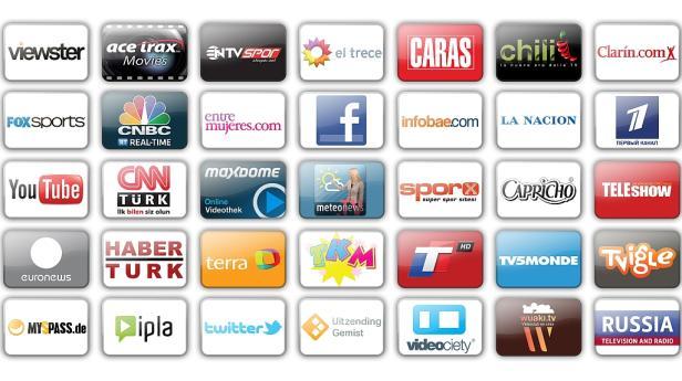 Einige der verfügbaren Apps für Smart TV