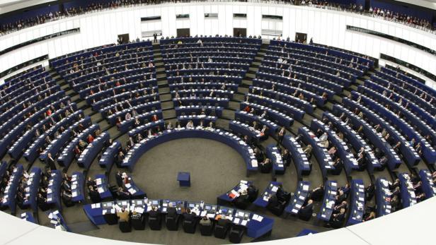 Plenarsaal des Europaparlaments in Brüssel