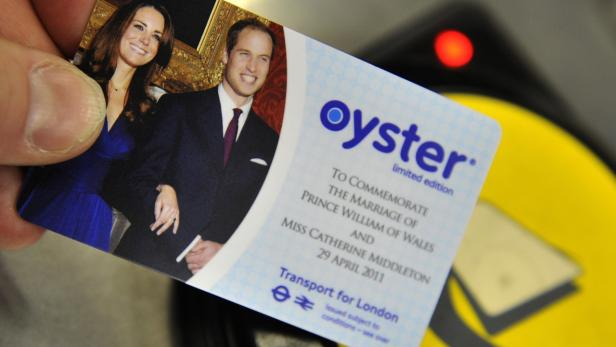 A limited edition of the Oyster card with a picture of Prince William and Kate Middleton was available in London last year.
