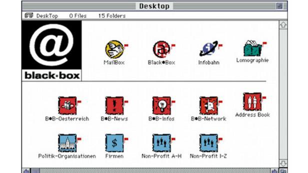 Screenshot der Blackbox aus dem Jahr 1999