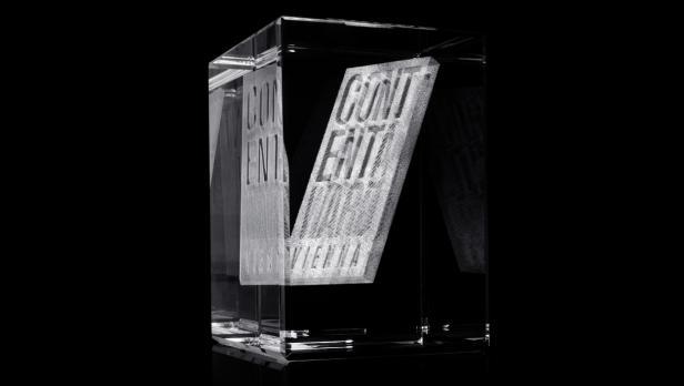 Die Trophäe des Content Award