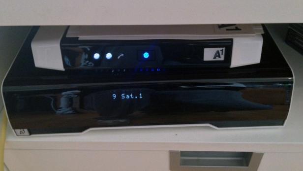Der Mediabox Recorder mit 400 GB und das A1-Modem