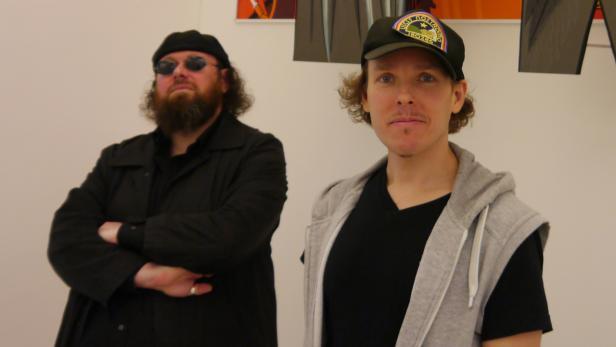 Günther Friesinger und Johannes Grenzfurthner (rechts)