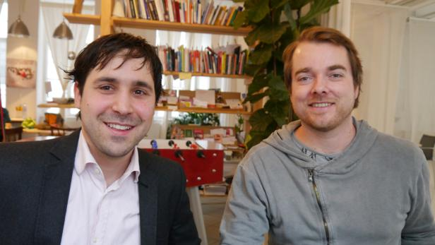 Philippe Hoffuri (left) and Bernhard Schreder from iDepart