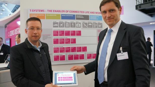 Christian Philippi von Riverbed Technologies (rechts im Bild)
