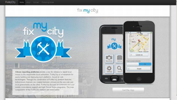 Fix My City-App von Fraunhofer Fokus