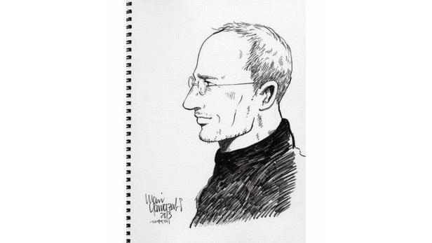 Steve Jobs Zeichnung von Mari Yamazaki
