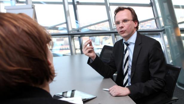 Andreas Bierwirth, T-Mobile, Interview im Büro, Karriere