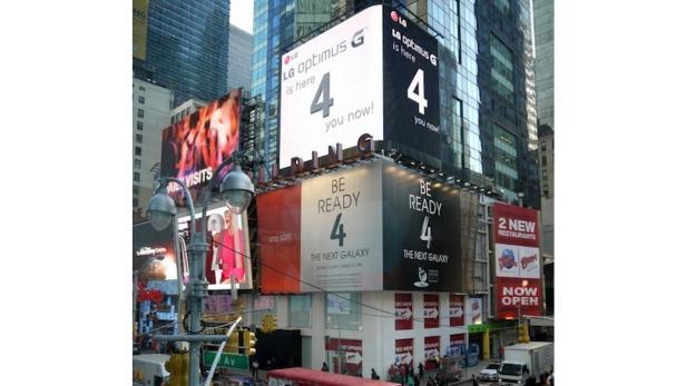 LG Optimus G Werbung auf dem Times Square