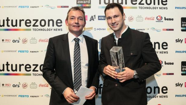 A1-CTO Marcus Grausam (links) - bei der futurezone-Award-Gala 2014