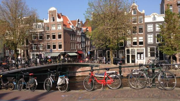 In Amsterdam ist Radfahren neben dem öffentlichen Verkehr ein extrem beliebtes Fortbewegungsmittel. Davon sollte sich Wien noch etwas abschauen, so Boyd Cohen.