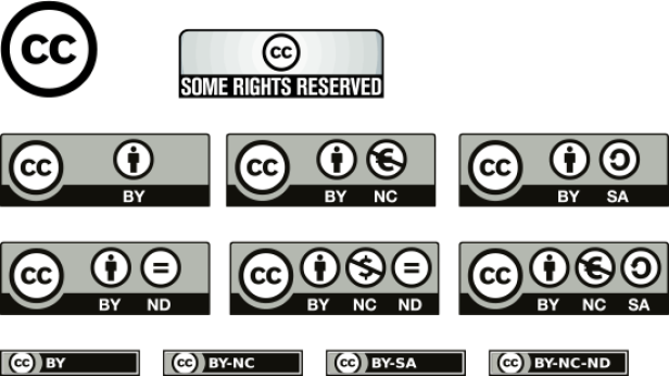 Creative Commons Icons und Logos