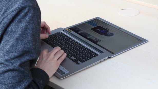 Schade, dass das Chromebook keinen Touchscreen hat
