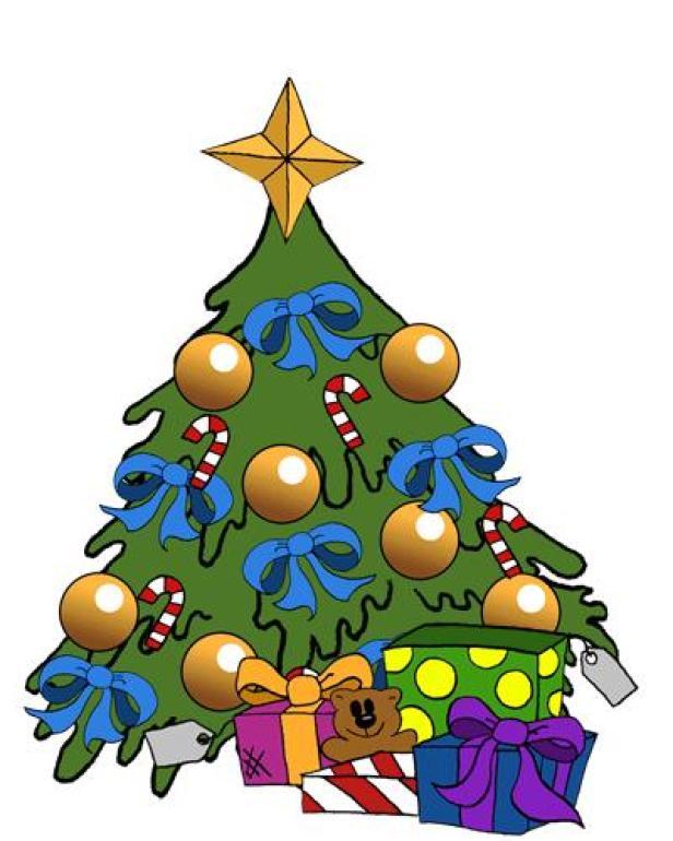 Im Weihnachtsbaum wurden jeden Tag als eine Art Adventkalender QR-Codes versteckt.