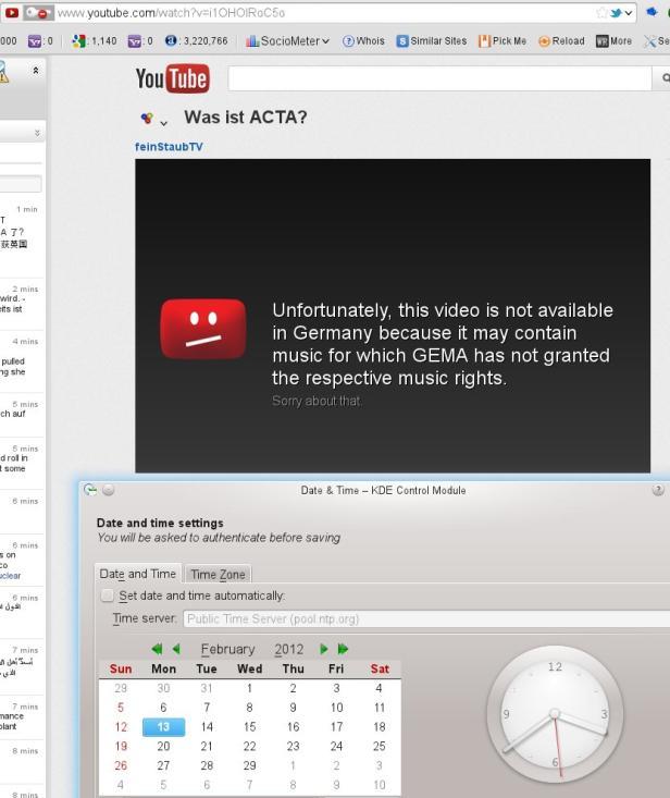 So sieht die YouTube-Seite des gesperrten Videos in Deutschland aus.