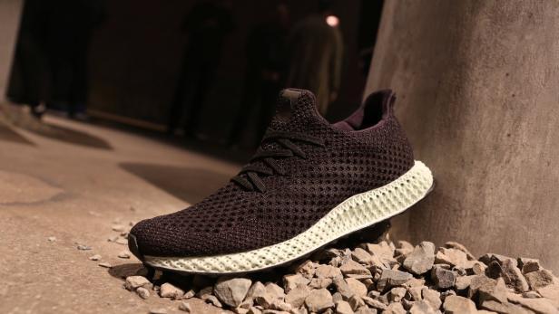 The new Adidas Futurecraft shoe is displayed in Ne