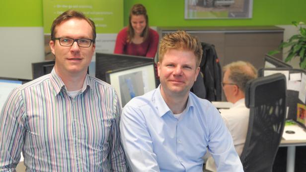 Geoprospectors-Gründer Michael Pregesbauer und Matthias Nöster (Bild rechts)