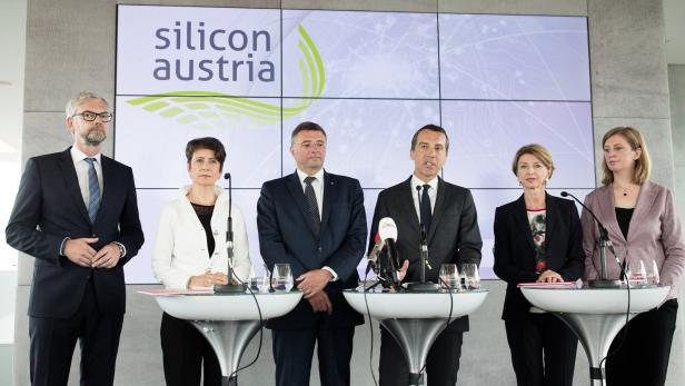 Michael Strugl, Sabine Herlitschka, Jörg Leichtfried, Christian Kern, Gaby Schaunig, Barbara Eibinger-Miedl (v.l.n.r.)