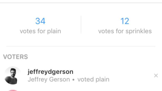 Man sieht genau, wer wie abgestimmt hat