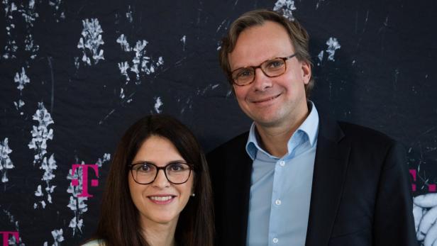 Maria Zesch und Andreas Bierwirth von T-Mobile