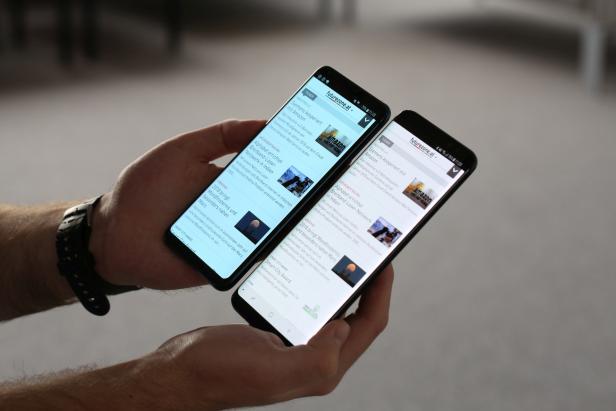 LG V30 (links) und Samsung Galaxy S8+