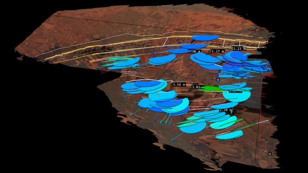 Die Felsformation 'Cape Desire' im Victoria-Krater auf dem Mars