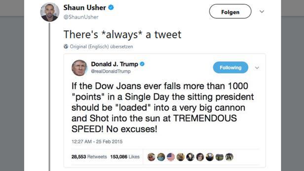 Über diesen angeblichen Tweet von Donald Trump wurden in kürzester Zeit massenhaft Späße gemacht - er stellte sich jedoch als Fälschung heraus