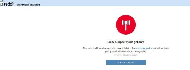 Deepfake Gruppe geschlossen