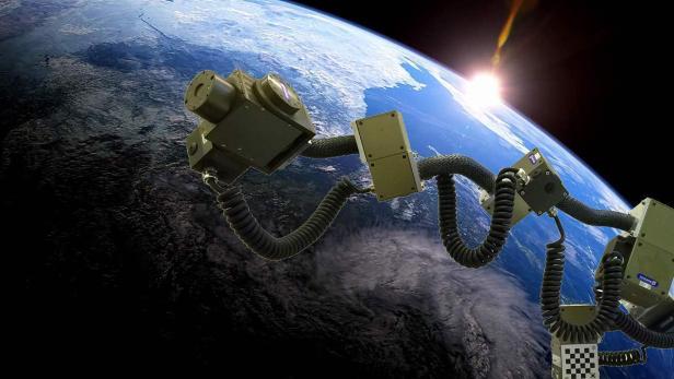 CUMA in Space als Greifarm an einer Raumstation oder einem Raumschiff