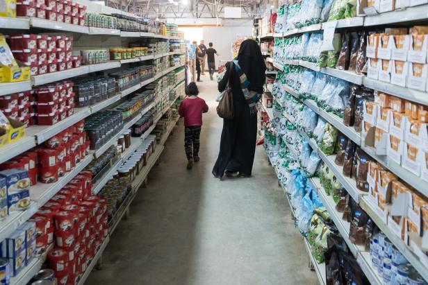 Supermarkt im Flüchtlingscamp Azraq