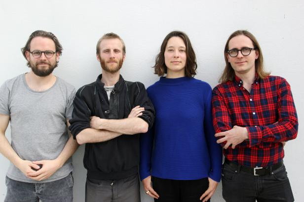 Vivihouse Team, v.l.n.r.: Nikolas Kichler, Mikka Fürst, Kathrin Meyer, Paul Adrian Schulz