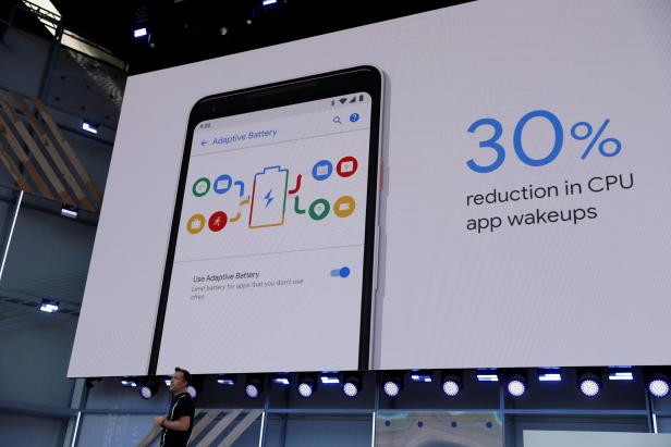 Dave Burke of Google speaks on stage during the annual Google I/O developers conference in Mountain View