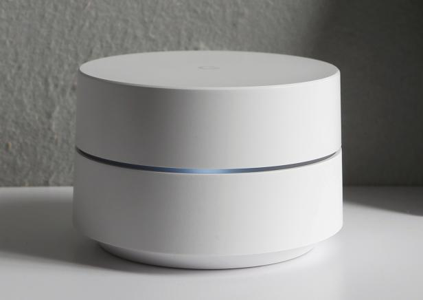 Google Wifi is displayed during the presentation of new Google hardware in San Francisco