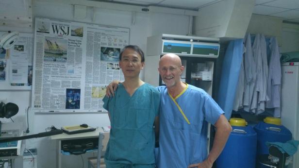 Xiaoping Ren und Sergio Canavero