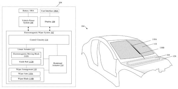 Tesla: Patent für elektromagnetischen Scheibenwischer