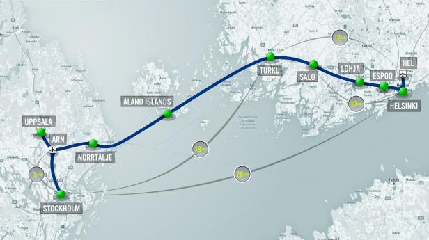 Hyperloop One Strecke Finnland Schweden