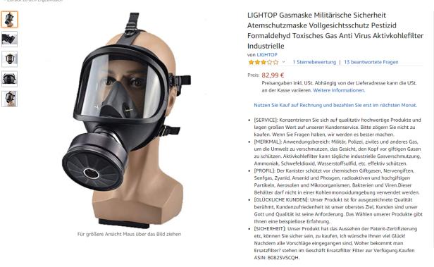 aktivkohle virus maske