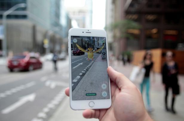 """Photo illustration of a """"Pidgey"""" Pokemon seen on t"""