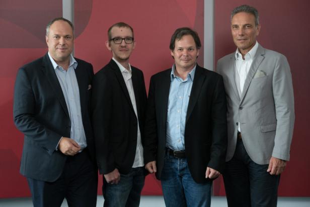 v.l.n.r. Richard Grasl, Bruno Hautzenberger, Georg Holzer, Michael Krammer