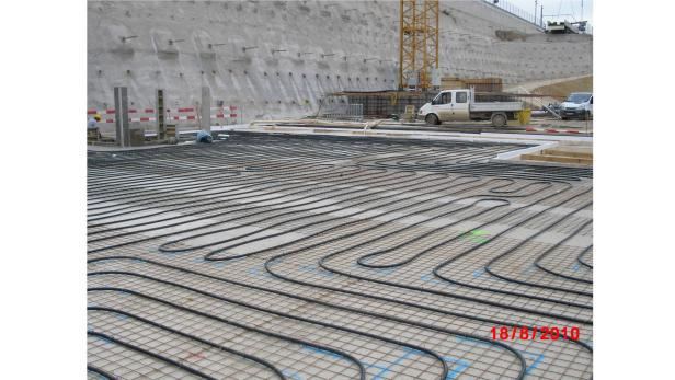 In der Baugrube des Hauptbahnhofs