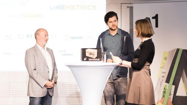 Business Angel Hansi Hansmann und Shpock-Mitbegründer Armin Strbac gaben den Newcomer-Start-ups ein paar Tipps mit auf den Weg