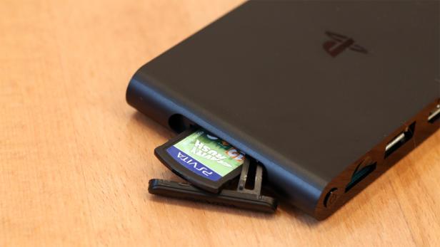 Der PS Vita-Spielmodul-Slot von PS TV