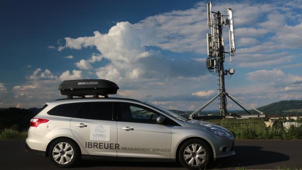 Sobald LTE in Schwung gekommen ist, wird nochmal gemessen