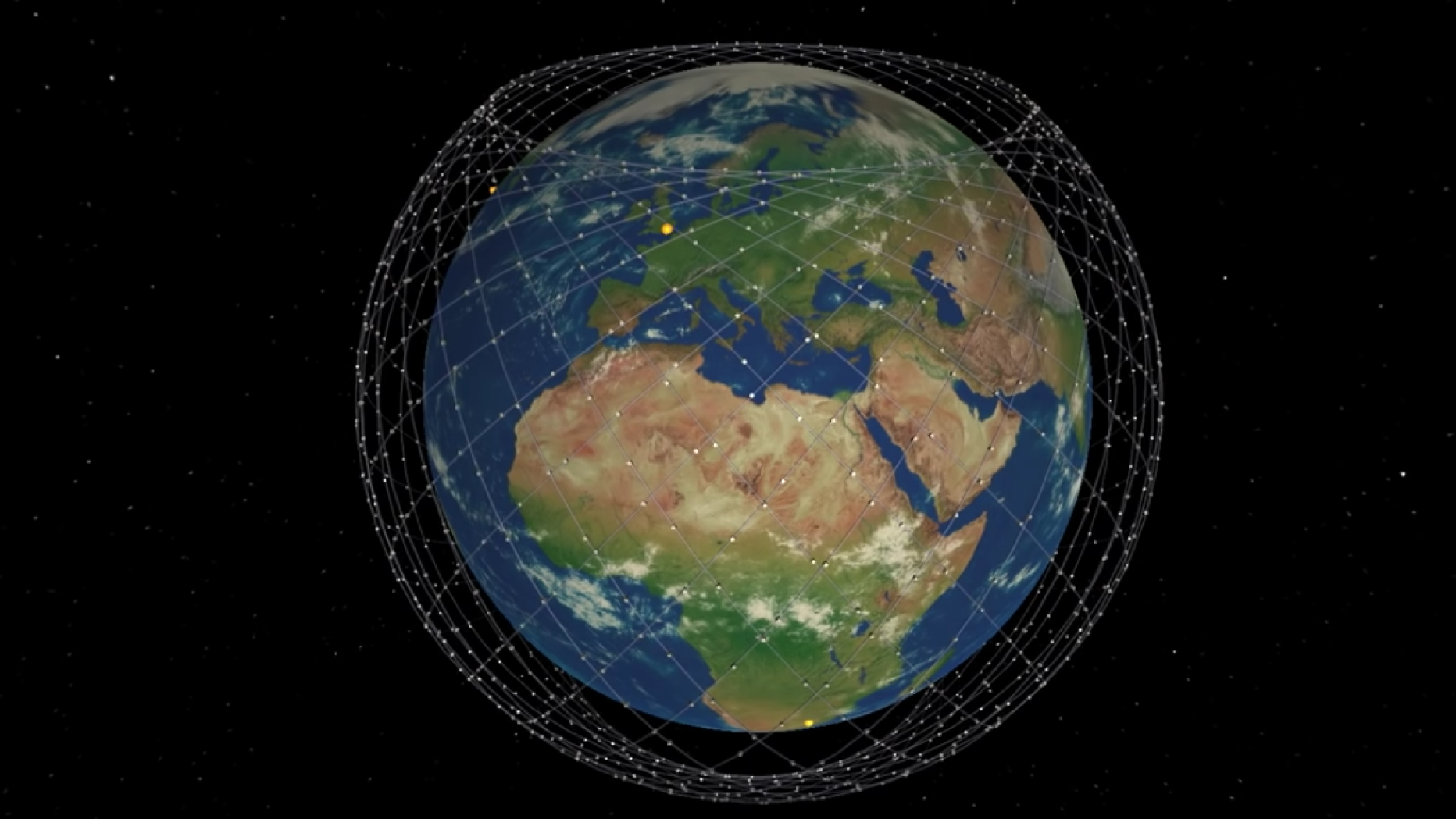 Neue Simulation zeigt, wie Musks Satelliten-Internet funktionieren soll