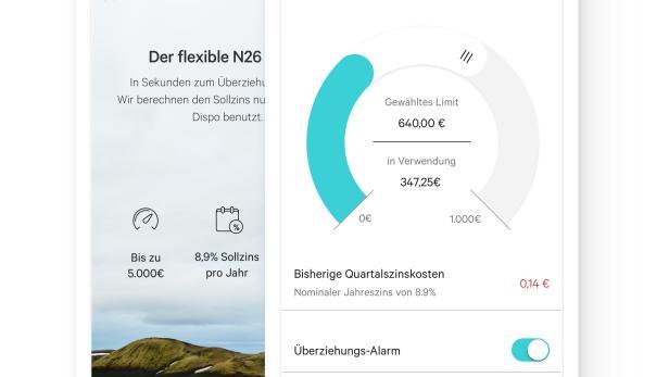 N26 startet Sparangebot und Überziehungsrahmen in Österreich