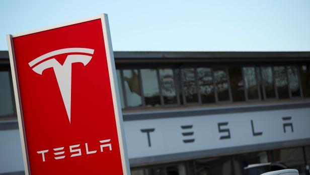 A Tesla dealership is seen in West Drayton, just outside London
