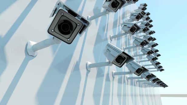 security camera 3d render.