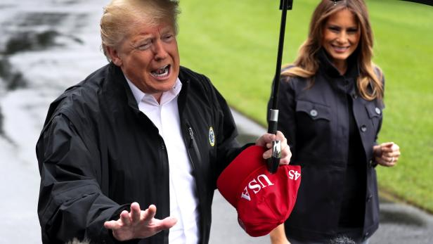 U.S. President Trump departs with first lady to tour Florida hurricane damage from the White House in Washington
